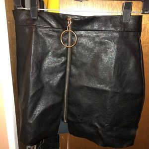 Dresses & Skirts - Damaged Faux Leather Pencil Skirt
